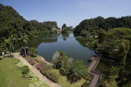 lang: Beautiful Mountain and Lake, Gunung Lang, Ipoh, Perak, Malaysia