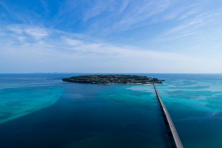 古宇利島空中リゾートします。 写真素材