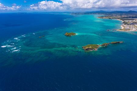 沖縄辺野古の海空撮 写真素材