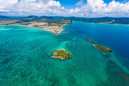 Aerial view  Okinawa Henoko sea