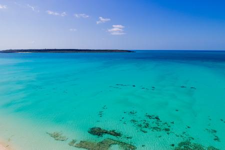 birdeye: Okinawa yonabaru Beach Stock Photo