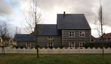 Traditional- style  Dutch house in Beverwijk New Town, Holland Stock Photo - 11828118