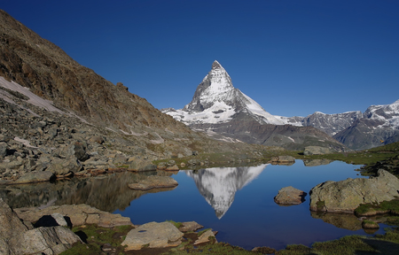 matterhorn: Matterhorn view with reflection in water