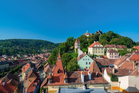Scenic view of Sighisoara Medieval City, Transylvania, Romania