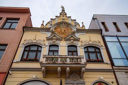 Zobrakov house in Kosice on Main Street, Slovakia Stock Photo