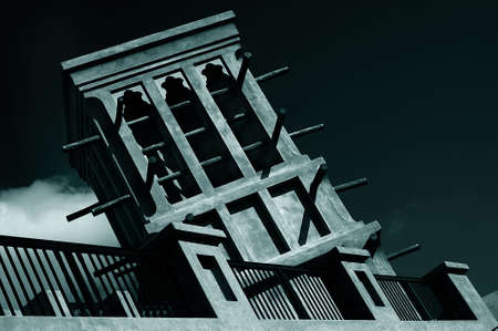 windtower: this is a windtower which is an arabic building with natural ventilation