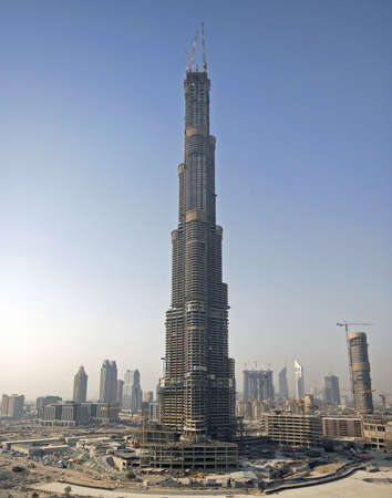 construction of the tallest building in the world, Burj Dubai day view