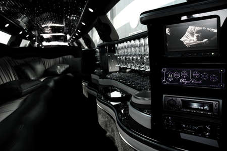 perk: The Interior Space Of A Luxurious Limousine