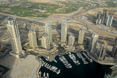 Dubai Marina & Waterfront Developments Stock Photo