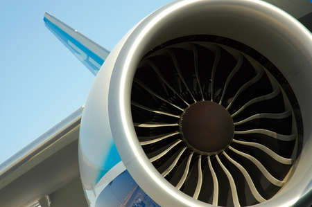 aeronautical: The Turbine Engine Of A Large Aircraft Stock Photo