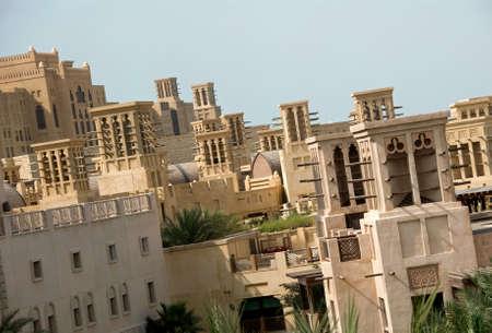 Windtowers At Madinat Jumeirah In Dubai Stock Photo