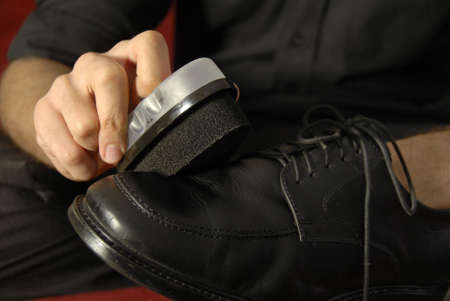 Shining A Leather Shoe