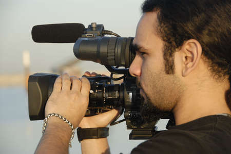 Film Maker�s Eye Stock Photo
