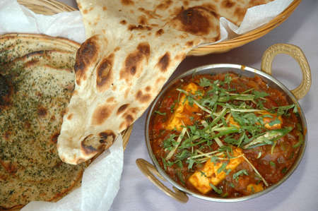 starchy food: Paneer & Rotti, Popular Dish In India & Pakistan