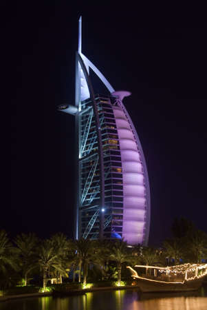 Burj Al Arab Lit In Pink Editorial