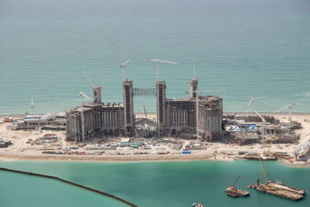 onshore: Construction On The Jumeirah Palm  In Dubai