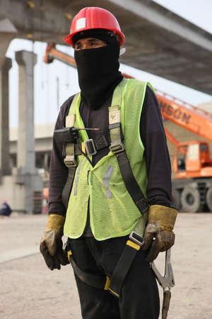 Dubai Metro Construction Worker photo