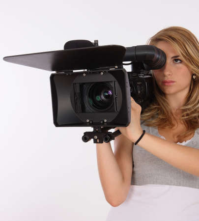 Beautiful Camera Girl Stock Photo