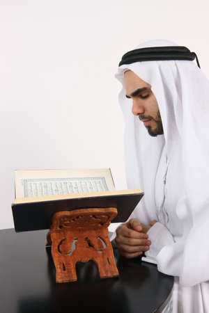 Arab Muslim Man Devoted To His Faith