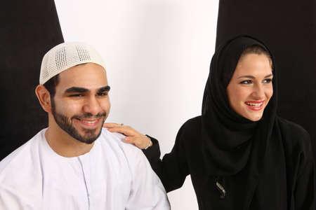 agradecimiento: Arabia par pasar un buen rato  Foto de archivo