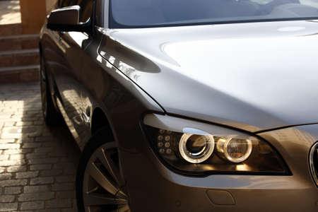 Luxury Car Parked Outside A Villa