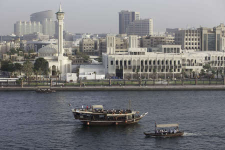 bur dubai: Ferries In Dubai Transport People From Deira To Bur Dubai & Back