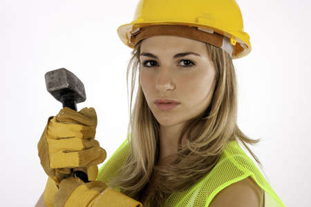Construction Girl Stock Photo - 7679564