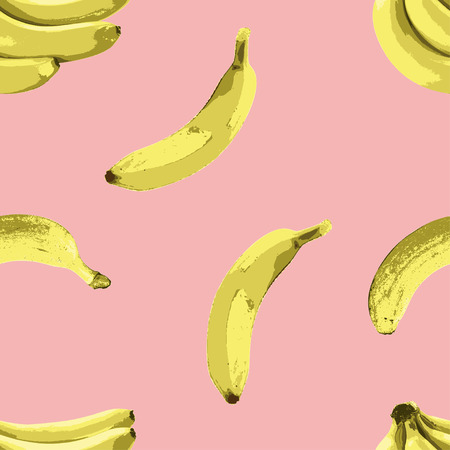 The sweet banana vector seamless pattern is perfect choice for completing your summer theme or tropical theme merchandise.