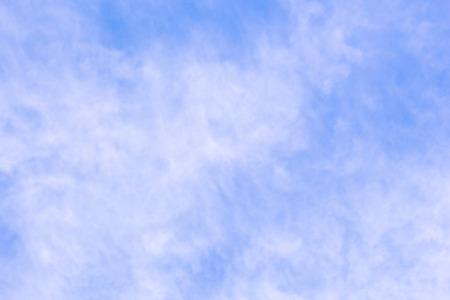 cloudiness: Light translucent cloudiness on blue sky background Stock Photo