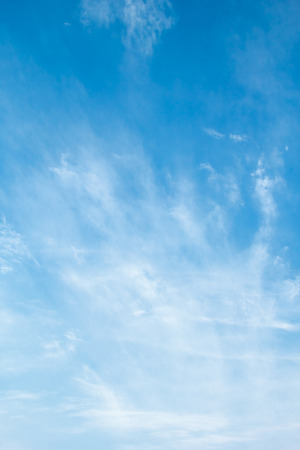 cirrus clouds: Blue sky with delicate arabesques of  cirrus clouds