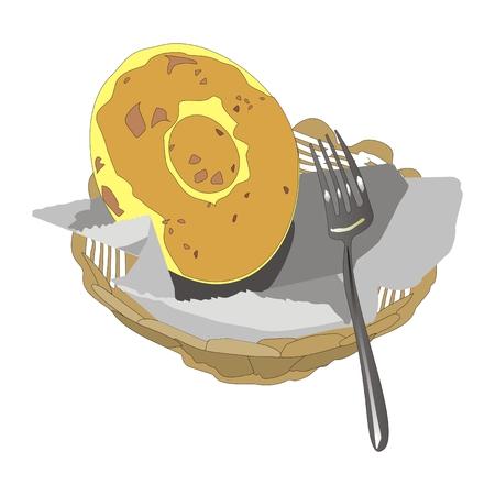 pita bread: round bread a flat cake served in a wicker basket
