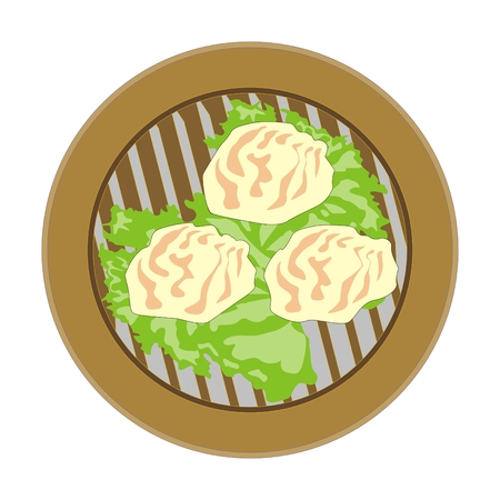 bao: Chinese soup dumplings, Xiao Long Bao, are steamed with the traditional filling of pork, Chinese cabbage, and chives.