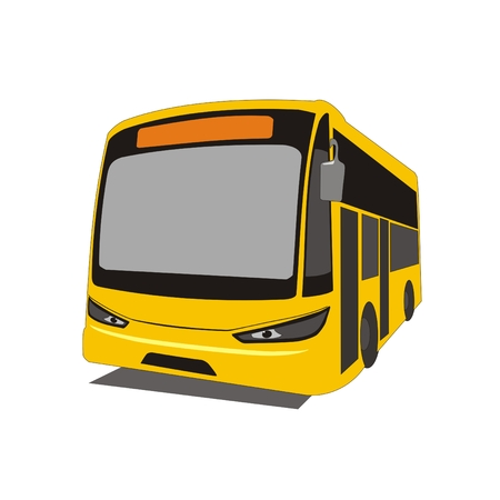 intercity: Illustration intercity bus in the state of Selangor Kuala Lumpur, Malaysia, isolated on white background Stock Photo