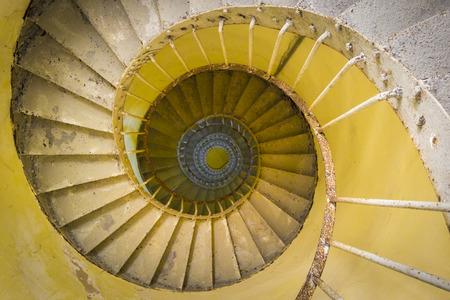 スパイラル階段灯台 写真素材