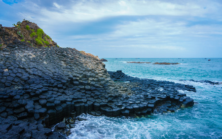large rock: At the famous Giants Causeway