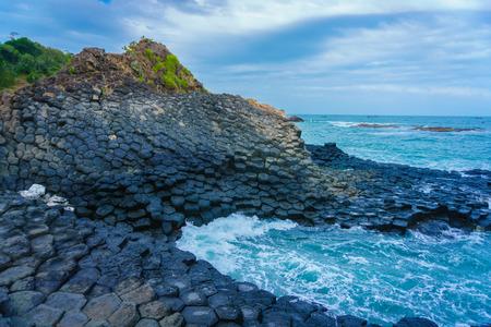 basalt: Basalt Giants causeway Stock Photo