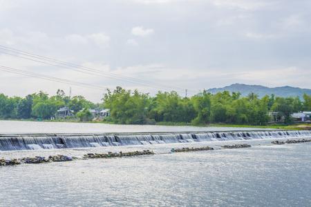 spillway: Water over Dam Stock Photo