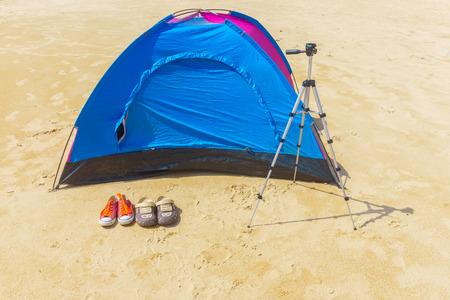 sandal tree: Camping at the beach