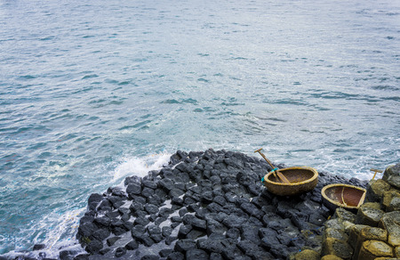 giants: Coracles and giants causeway Stock Photo