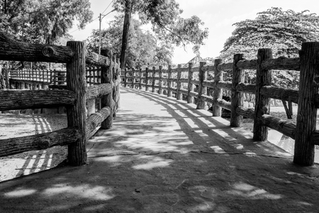 tripping: The empty walkway BW Stock Photo