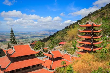 southeast asian ethnicity: Landscape of Ta Cu pagoda