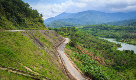 country landscape: Mountain road