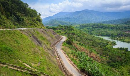 highlands region: Mountain road