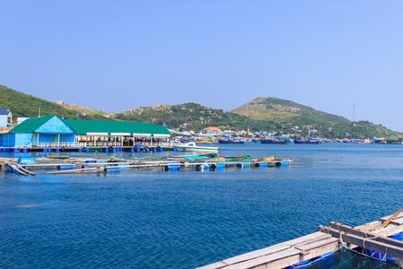 commercial fishing net: Fishs farming Editorial