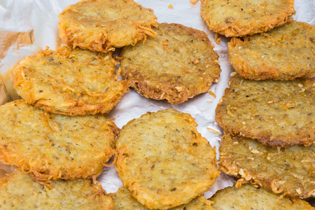 prepared shellfish: The crab Cakes Stock Photo