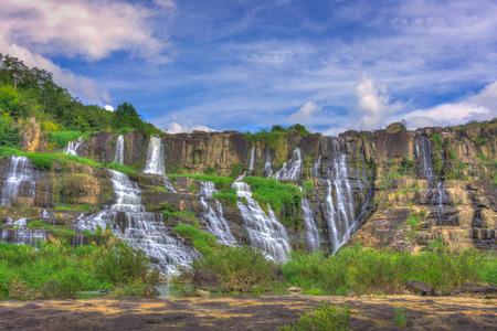 nam: Beautiful of Pongour waterfall, Viet Nam Stock Photo
