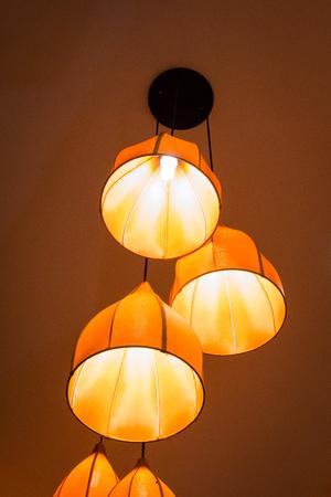 chandelier: Lighting decor in restaurant