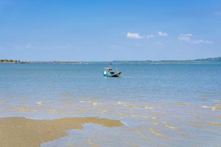 ange: Fish ship anchor on beach Stock Photo