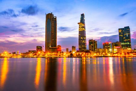 Saigon skyline at sunset