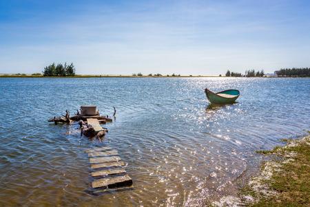 ange: Boat in river. HDR